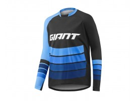 MAILLOT GIANT TRANSFER MANCHES LONGUES BLEU