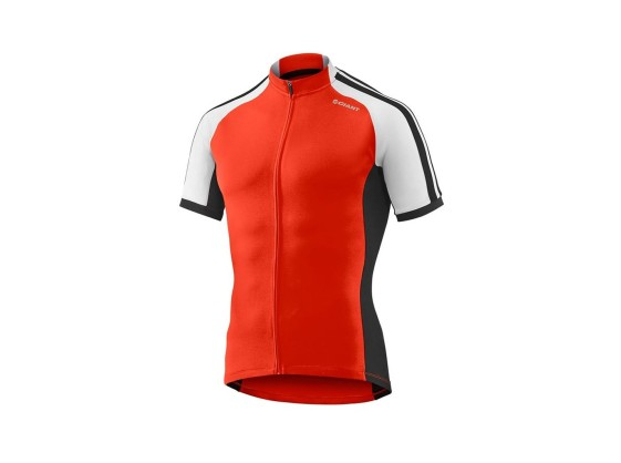 MAILLOT MANCHES COURTES GIANT TOUR ROUGE