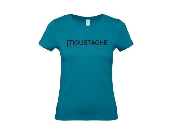 T-SHIRT MOUSTACHE BIKES FEMME